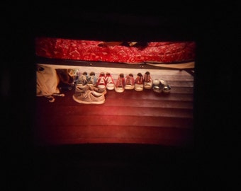 VTG 35mm Ektachrome Photo Slide Abstract Shoes Under The Bed