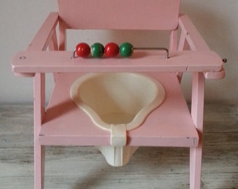 French little pot chair, children's chair, vintage kids chair