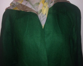 1950's  Green Linen Jacket