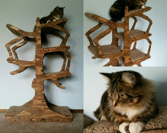 Handmade Cat Tree Shaped Like a Tree!