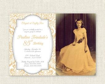 Surprise 85th Birthday Invitation, Digital Printable File