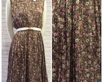 1980 - Vintage Japanese Dress, S-M size, Style No.2023