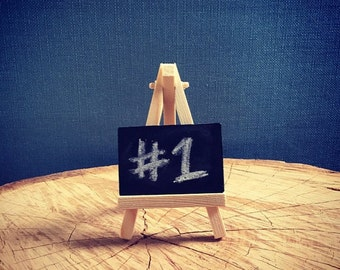 Mini easel and chalkboard/wedding table number/name place card (Set of 5) vintage wedding accessories
