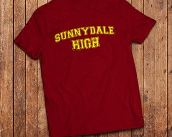 Sunnydale High T-Shirt. inspired by Buffy the Vampire Slayer, High School sports shirt.
