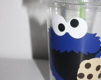 Cookie Monster Party, cookie monster party cups, cookie monster party supply