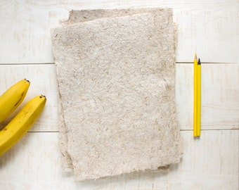 Handmade paper from banana fiber - Natural textured paper - Decorative paper - Scrapbooking Paper - Eco-friendly (#22)