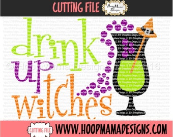 Drink Up Witches SVG DFX EPS and png Files for Cutting Machines Cameo or Cricut