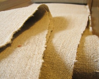 Antique HandWoven Old Linen Flax Homespun Vintage Fabric Grain Sack Heavy Weight