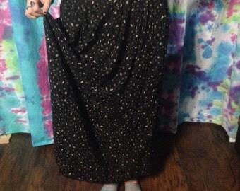 Black Floral Maxi Skirt