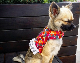 Colourful Lace Dog Harness, Dog Vest, Pet Accessories, Chihuahua Harness, Small Dog Harness, Girl Dog Harness, Dog Clothes