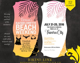 BIKINI-LINE . bachelorette weekend invitation
