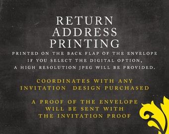 ADD-ON . return address printing