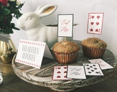 Alice in Wonderland Party Package, Instant Download