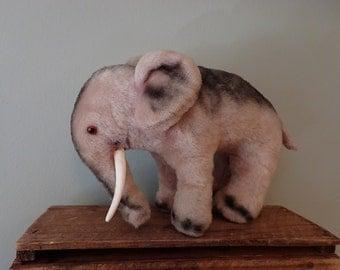 Steiff-type Mohair Elephant Soft Toy