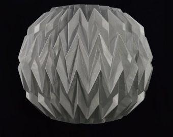 Silver Round Geometrical Shaped Folding Paper Lantern Shade - 16UQ1-SV