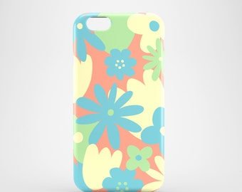 Pastel Floral mobile phone case / summer iPhone 7 case / iPhone 7 Plus case / iPhone Se / iPhone 6S / iPhone 6 / iPhone 5S / iPhone 5