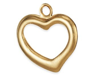 2 Pcs 14K Gold Filled Heart Charm 10.5x10 mm (GFP2195)