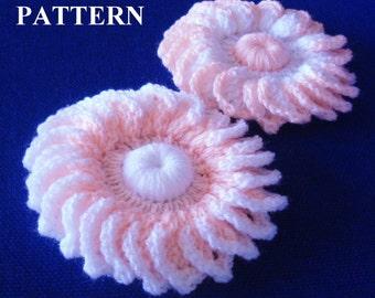 Flower Crochet Pattern Flower Crochet Flowers Pattern Flower Crochet Patterns Crochet Flowers Easy crochet Patterns Olga Andrew Designs 025