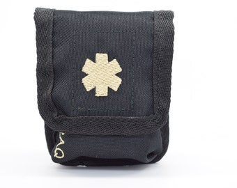 ReactPaq® - Double Shot, Allergy Case for the Auvi-q, CUSTOM COLOR for Medical Emblem and Lettering, Single or Double Shot Case