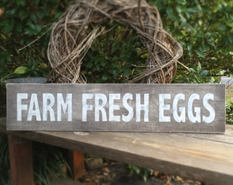 Farm Fresh Eggs, wooden, hand painted, kitchen, shabby chic, large, sign, dining room, rustic, home decor, rustic,
