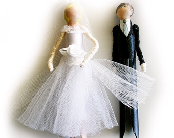 Wedding Doll Kit (Bride and Groom), Beginners Craft Kit, Wedding Favour,