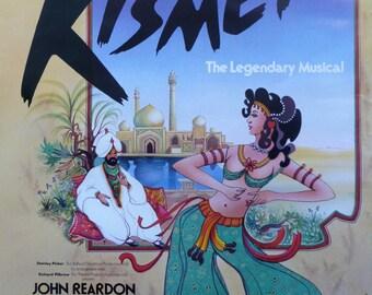 Kismet Musical Shaftesbury Theatre London Poster - 1978 - 317x508mm