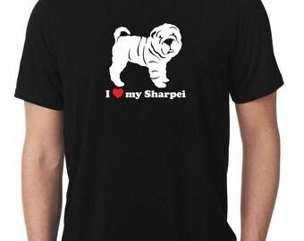 I Love My Sharpei T-Shirt T1064