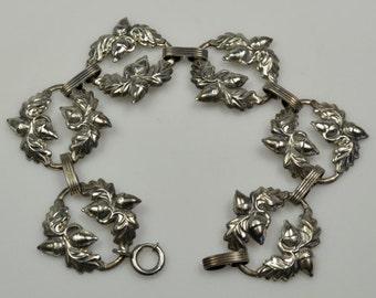 Danecraft Sterling Acorn Bracelet