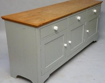 Vintage Painted Pine Dresser Base