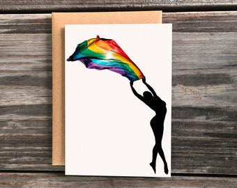 LGBT Rainbow Pride Flag Art Greeting Card