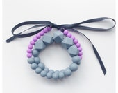 Little Five Points: hexagon silicone teething necklace