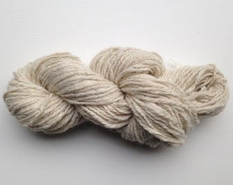 Handmade Argentine Llama Yarn in Cream - Ready to Ship