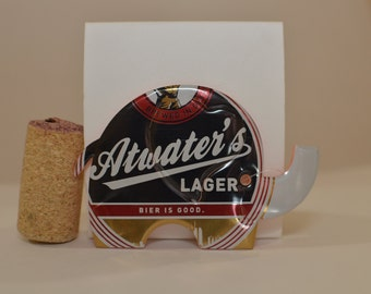 Elephant Magnet made from Atwater's Lager beer  can