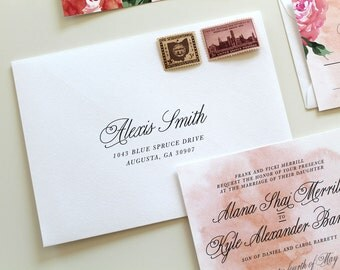 Custom Wedding Envelope Printing | Script Envelope Printing, Custom Envelope Addressing, Printable Envelope, Wedding Envelope Addressing