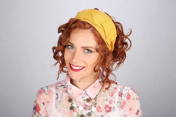 Yellow Headband/Adjustable Half Head Wig Cover/Yoga Workout Headband/For Gardening/Bad Hair Day/Comfortable Stretch/Gift Wife/Mustard Yellow