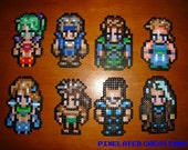 Final Fantasy VI Perler Bead Pixel Art Complete Character Magnet Set - Includes 28 In-Game Characters featured image