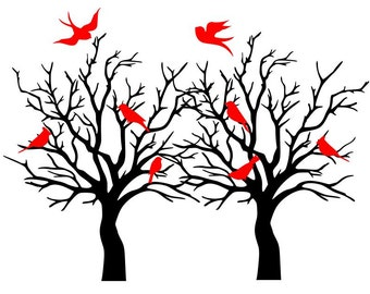 Winter Birds SVG
