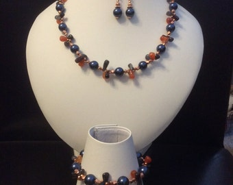 Necklace Bracelet and Earring set
