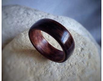 Bent Wood Ring - Ebony & Walnut