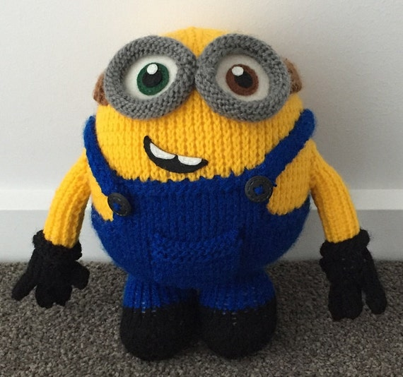 Free Crochet Pattern For Bob The Minion : Bob the Minion Knitting Pattern PDF
