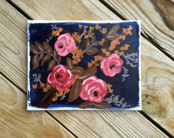 Fall Floral - Acrylic Canvas Painting