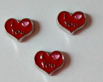 Floating Heart charm