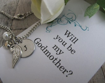 """Personalized Bracelet, """"Will You Be My Godmother"""" Godmother Gift, Godmother jewelry, Christening Gift, Baptism Gift, Communion Gift."""