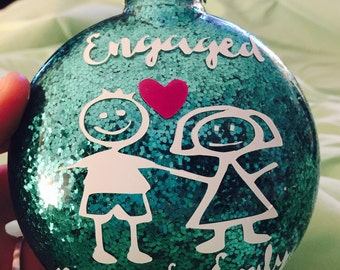Engagment ornaments, couples ornaments