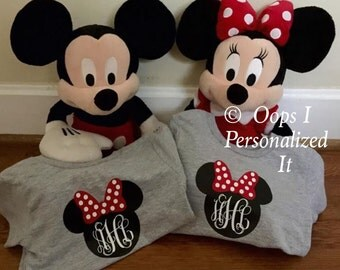 Youth Personalized Mickey or Minnie Mouse Shirt