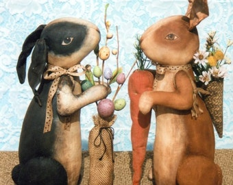 Wonderful Vintage Bunny Pattern! Buy him now and have him ready to met the Easter Bunny!