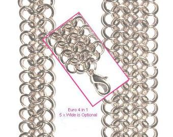 European 4in1 Weave Chain Maille Bracelet Tutorial PDF