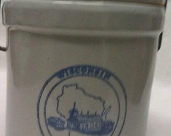 Wisconsin Homestead Cheese Jar & Lid