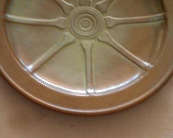 Frankoma Pottery Wagon Wheel Plate