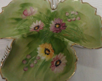 EPP & Co. New York Pauls Made in Japan Porcelain Leaf Look Dish